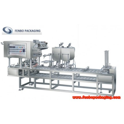 plastic food containers filling and sealing packing machine-FBCFD4