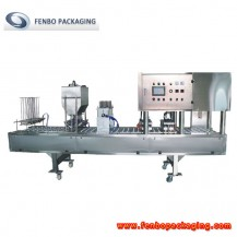 plastic yogurt cups filling and sealing packaging machine-FBCFD10