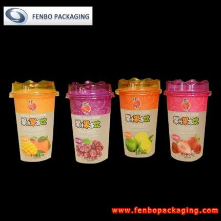 215gram plastic cups with lids,juice packs for kids-FBSLB003