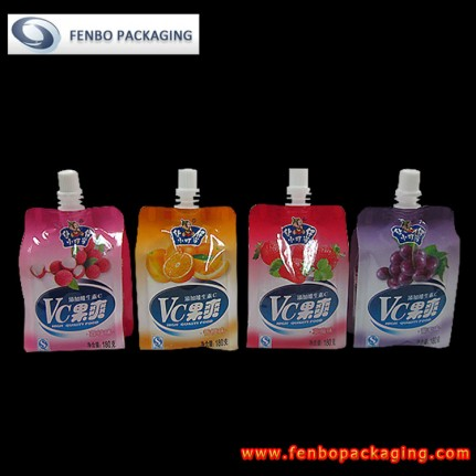 plastic beverage spout pouches | food & beverage packaging-FBQEB004
