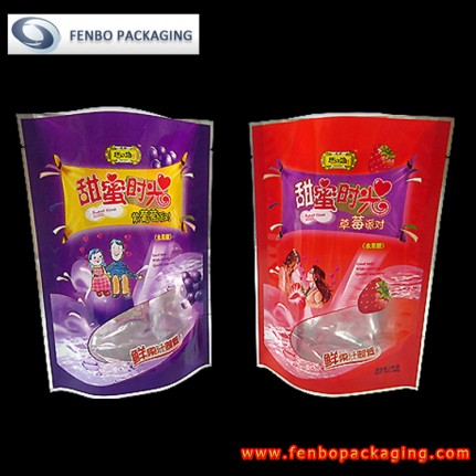 stand up candy bags pouch with window | candy packaging-FBRFZL004