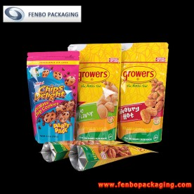250gram foil stand up zip pouch,nuts packaging-FBLLZL004