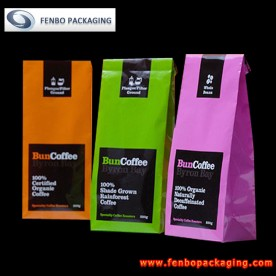 block bottom tin tie coffee bags | coffee 500g packaging-FBBBFPD004