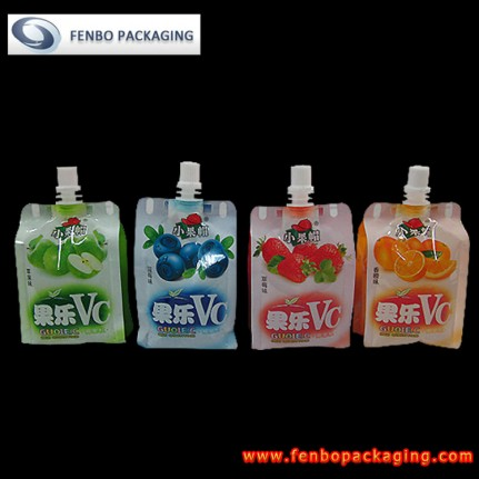 plastic spout pouch beverages bags | packaging of beverage-FBQEB006