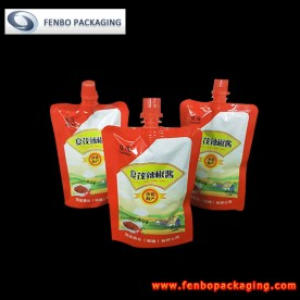 metalized stand up pouches china | chili sauce packaging-FBTBZL008