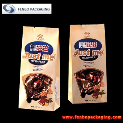 flat bottom kraft paper bags | kraft pouch packaging-FBBBFPD008
