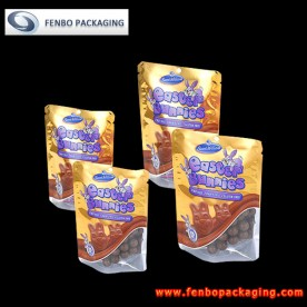 silver doypack stand up pouch with window | resealable chocolate packaging-FBRFZL009