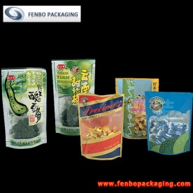 clear stand up pouches printed | packaging for snack food-FBRFZL012