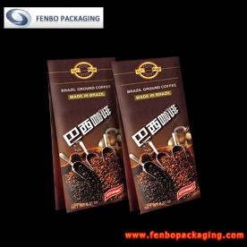 quad seal ground coffee pouch bags | packaging for coffee-FBFQD014
