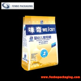 250gram printed foil side gusseted bags quad seal-FBFQDA001
