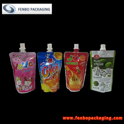 stand up beverage drink pouches bag with spout | drink packaging-FBTBZL026