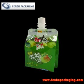 180ml plastic drink packaging bag pouches with spout-FBQEBA007A