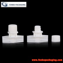 Dia 5mm plastic spouts with caps for cream sachet | plastic spout packaging-FBLW036