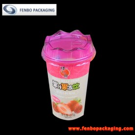 215gram plastic drinking cups with lids and straws|juice packaging materials-FBSLBA008B