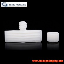 Dia 5mm plastic spout cap for shampoo spout pouches | shampoo packing-FBLW047