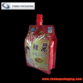 350gram hot red chili sauce in pouches-FBQEBA014