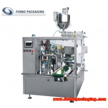 rotary liquid packaging pouch fill and seal packing machines-FBY200