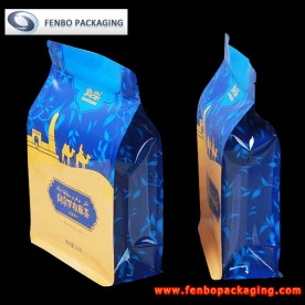 zip top square bottom gusseted pouches bag | packaging for tea leaves-FBBBFPD015