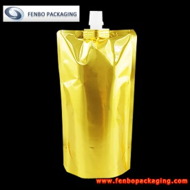 550ml standing pouch gold with spout for liquid supplier-FBTBZLA133