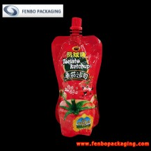 320gram spout stand up pouch tomato ketchup manufacturer in china-FBYXZLA086