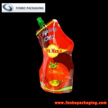 250gram spout bag standing pouches tomato ketchup with tap-FBYXXZA016