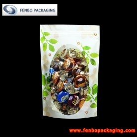 250gram standing plastic pouch ziplock with window-FBLLZLA031