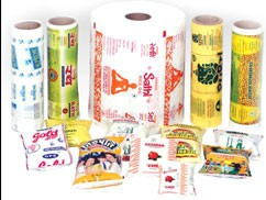 How many units of packaging per KG of packaging roll film?
