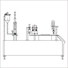 semi automatic spouted stand up pouch filler machine