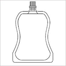 shaped doy pack with top spout