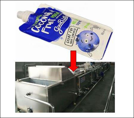 pasteurization process for pre-packed foods