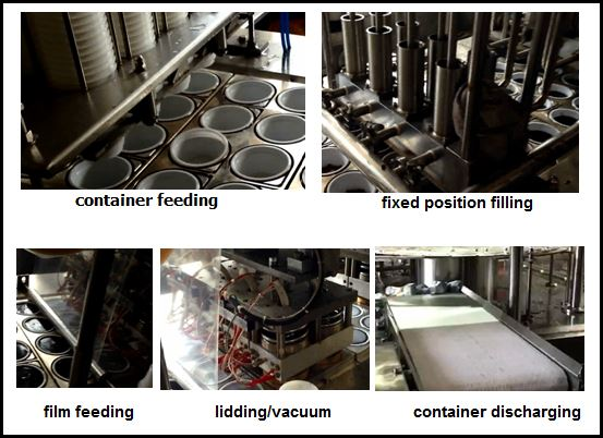 working process of plastic food container sealing machine